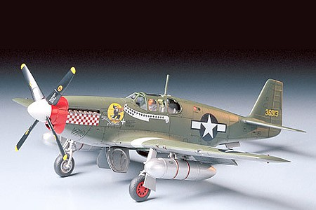 Tamiya P-51B Mustang Fighter Aircraft -- Plastic Model Airplane Kit -- 1/48 Scale -- #61042