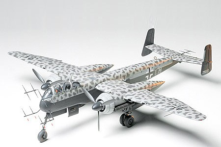 Tamiya Heinkel HE219 UHU WWII Fighter Aircraft Plastic Model Airplane Kit 1/48 Scale #61057