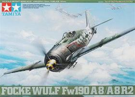Tamiya Focke-Wulf FW190 A-8/A-8 R2 Fighter WWII Plastic Model Airplane Kit 1/48 Scale #61095