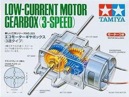 Tamiya Low-Current Motor Gearbox 3-Speed