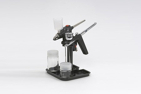 Tamiya Spray Work Airbrush Stand -- Holds 2 Airbrushes -- #74539