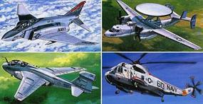 Tamiya US Navy Aircraft #2 (4 kits) Plastic Model Airplane Kit 1/350 Scale #78009