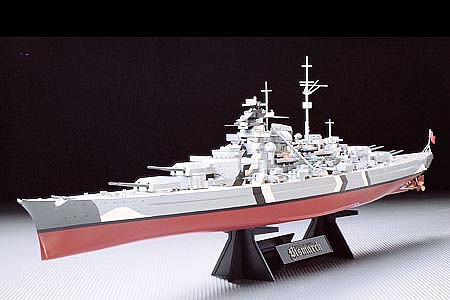 Tamiya German Bismarck Battleship Boat -- Plastic Model Military Ship Kit -- 1/350 Scale -- #78013