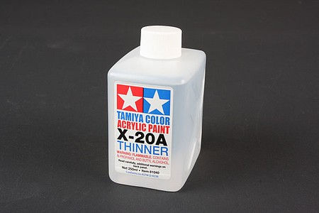 Tamiya Acrylic/Poly Thinner X20A 8.5 oz -- Hobby and Model Acrylic Paint -- #81040