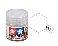 Tamiya Acrylic Mini X35 Semi Gloss Clear 10ml Bottle Hobby and Model Acrylic Paint #81535