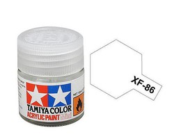 Tamiya Acrylic Mini XF86 Flat Clear 10ml Bottle Hobby and Model Acrylic Paint #81786