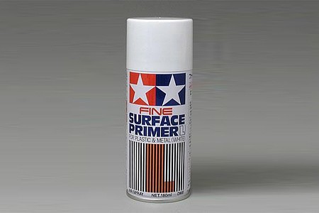 Tamiya Surface Primer L White Hobby and Model Acrylic Paint #87044