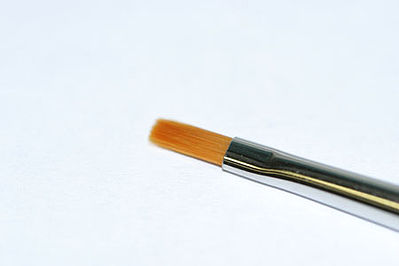 Tamiya High Finish Flat Paint Brush -- Size #0 -- Synthetic -- #87046