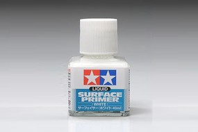 Tamiya Liquid Surface Primer White/40ml Hobby and Model Lacquer Paint #87096