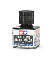 Tamiya Panel Line Accent Color Black Hobby and Model Enamel Paint #87131