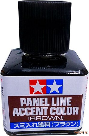 Tamiya Panel Line Accent Color 40ml, Brown