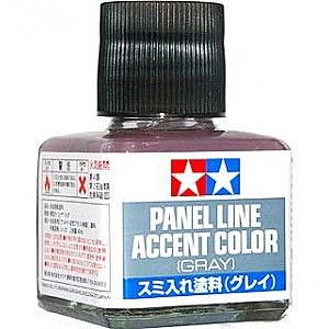 Tamiya Panel Line Accent Color Gray Hobby and Model Enamel Paint #87133