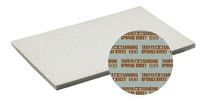 Tamiya Sanding Sponge Sheet 5''x5.5'' (5mm thick) 600 Grit