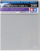 Tamiya Sanding Sponge Sheet 5x5.5 (5mm thick) 240 Grit