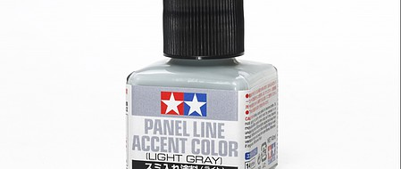 Tamiya Panel Line Accent Color Light Gray Hobby and Model Enamel Paint #87189