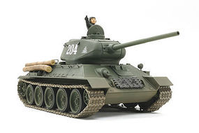 Tamiya Russian T-34-85 Tank Plastic Model Military Vehicle Kit 1/25 Scale #89569