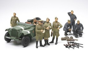 Tamiya Russian Field Car GAZ-67B w/ Figures Plastic Model Military Figure Kit 1/48 Scale #89767