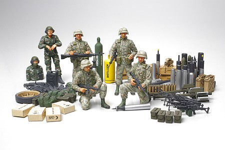 Tamiya US Modern Elite Infantry w/Accessories Plastic Model Military Figure Kit 1/35 Scale #89772