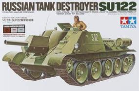 Tamiya Russian Tank Destroyer SU-122 w/Master Set Plastic Model Military Kit 1/35 Scale #89798
