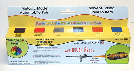 Tru-Color Auto Metallic Colors Hobby and Model Enamel Paint #10201