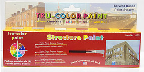 Tru-Color Includes 6 1 oz bottles; Concrete, Stucco Gray, Off White, Brick Red Roof Brown, Deep Brown