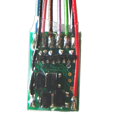TCS FL4 Function-Only Decoder 5-Pack 4 Lighting Functions, Hardwire Only .585 x .36 x .115 - HO-Scale (5)