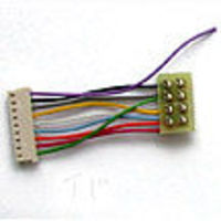 TCS DCC Decoder Harness E6 Harness for T Series Decoder in PROTO EMD E6, 8-Pin NMRA Plug
