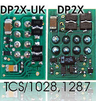 TCS DP2X-UK 2-Function DCC Decoder HO Scale Model Railroad Electrical Accessory #1287