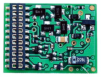 TCS EU621 DCC 6-Function Decoder - Control Only Fits Locomotives w/21-Pin Connector .797 x .614 x .185 - HO-Scale