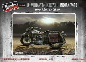 Thunder-Model 1/35 US 741B Military Motorcycle (New Tool)