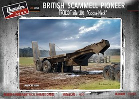 Thunder-Model 1/35 British Scammell Pioneer TRCU30 30-Ton Goose-Neck Trailer