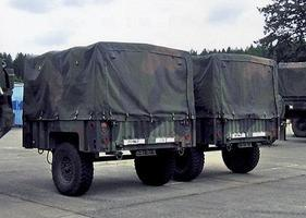 Trident M1101 High Mobility 3/4 Ton Cargo Trailer HO Scale Model Roadway Vehicle #87089