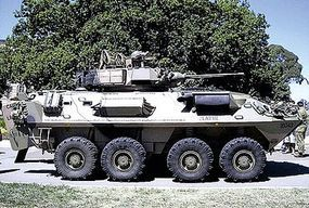 Trident ASLAV 25 Australian Light Armored Reconnaissance Vehicle HO Scale Model Roadway Vehicle #87153