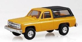 Trident Chevrolet Full Size Blazer Yellow w/Black Hard Top HO Scale Model Roadway Vehicle #900013