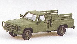 Trident Light Trucks M1008 Open Troop Carrier Green Chevy HO Scale Model Roadway Vehicle #90004
