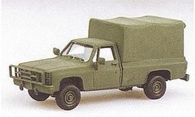 Trident Light Trucks M1008 Cargo Carrier w/Canvas Cover Green HO Scale Model Roadway Vehicle #90005