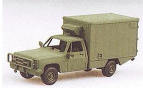 Trident Light Trucks - M1010 Ambulance Chevrolet Green HO Scale Model Roadway Vehicle #90007
