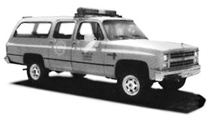 Trident Miniatures Chevrolet Suburban Fire Dept. Command Unit Lime Yellow -- HO Scale Model Roadway Vehicle -- #90018