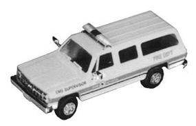 Trident Emergency Medical Services Supervisor Chevrolet Suburban HO Scale Model Roadway Vehicle #90054