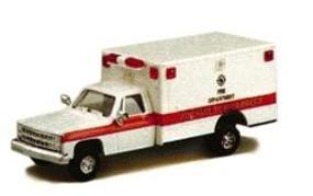 Trident Advanced Life Support Unit Chevy Pick-up Cab Ambulance HO Scale Model Railroad Vehicle #900631
