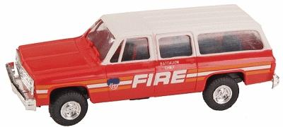 Trident Miniatures Emergency Chevrolet Suburban FDNY Fire Chief -- HO Scale Model Railroad Vehicle -- #90064a