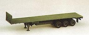 M872 3 Axle 34 Ton Flatbed No Tractor Green HO Scale Model Railroad Vehicle #90068