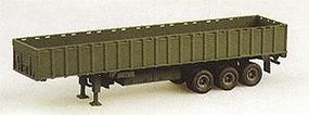 Trident M872A3 3 Axle 34 Ton Flatbed w/Sidewalls Green HO Scale Model Railroad Vehicle #90069