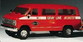 Trident Chevrolet Van Airport Shuttle Service HO Scale Model Railroad Vehicle #90071