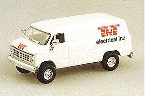 Trident Miniatures Chevrolet Cargo Van TNT Electrical -- HO Scale Model Railroad Vehicle -- #90074