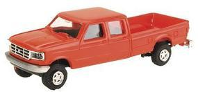 Trident Trucks Ford F-350 Crew Cab Pick-Up Red HO Scale Model Railroad Vehicle #900782