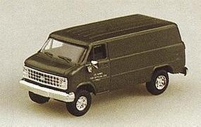 Trident Chevrolet Cargo Van Green HO Scale Model Railroad Vehicle #90083