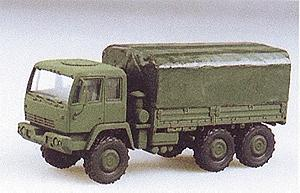 Trident M1083 Dual Rear Axle Flatbed w/Cover HO Scale Model Railroad Vehicle #90087