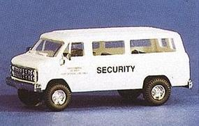 Trident Shore Patrol/Security Chevrolet Personnel Van White HO Scale Model Railroad Vehicle #90112
