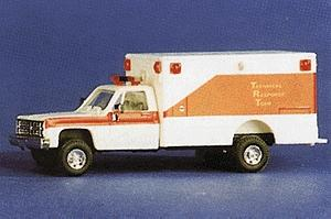 Trident Technical Response Team Unit w/Chevy Pick-up Cab HO Scale Model Railroad Vehicle #90119